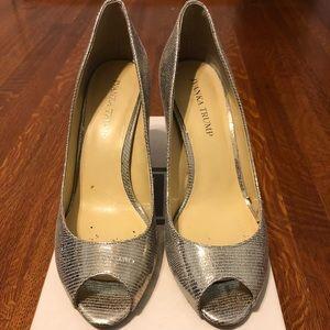 Ivanka Trump Silver Short Heel Sz 8.5